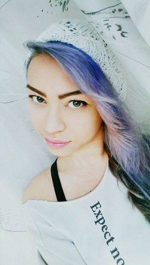 I changed my haircolor everytime but i love it ? That's Me Purple Hair Pierced Girl Piercings Asian Girl Faces Of EyeEm Selfie