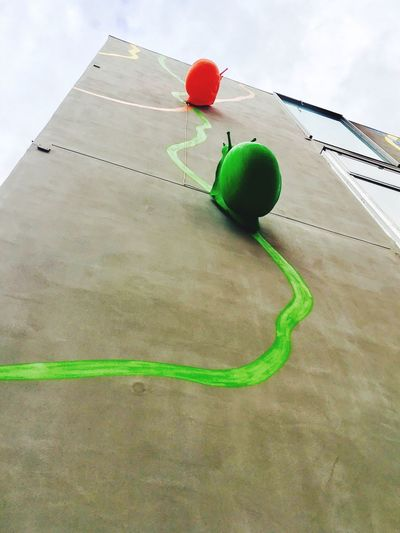 Green Color Balloon Multi Colored Celebration Sky Outdoors No People Day Helium Balloon Helium