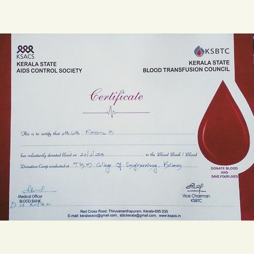 I support 'SAVE A LIFE' Blood Donation Camp Blood_donation Tezoro_2k15