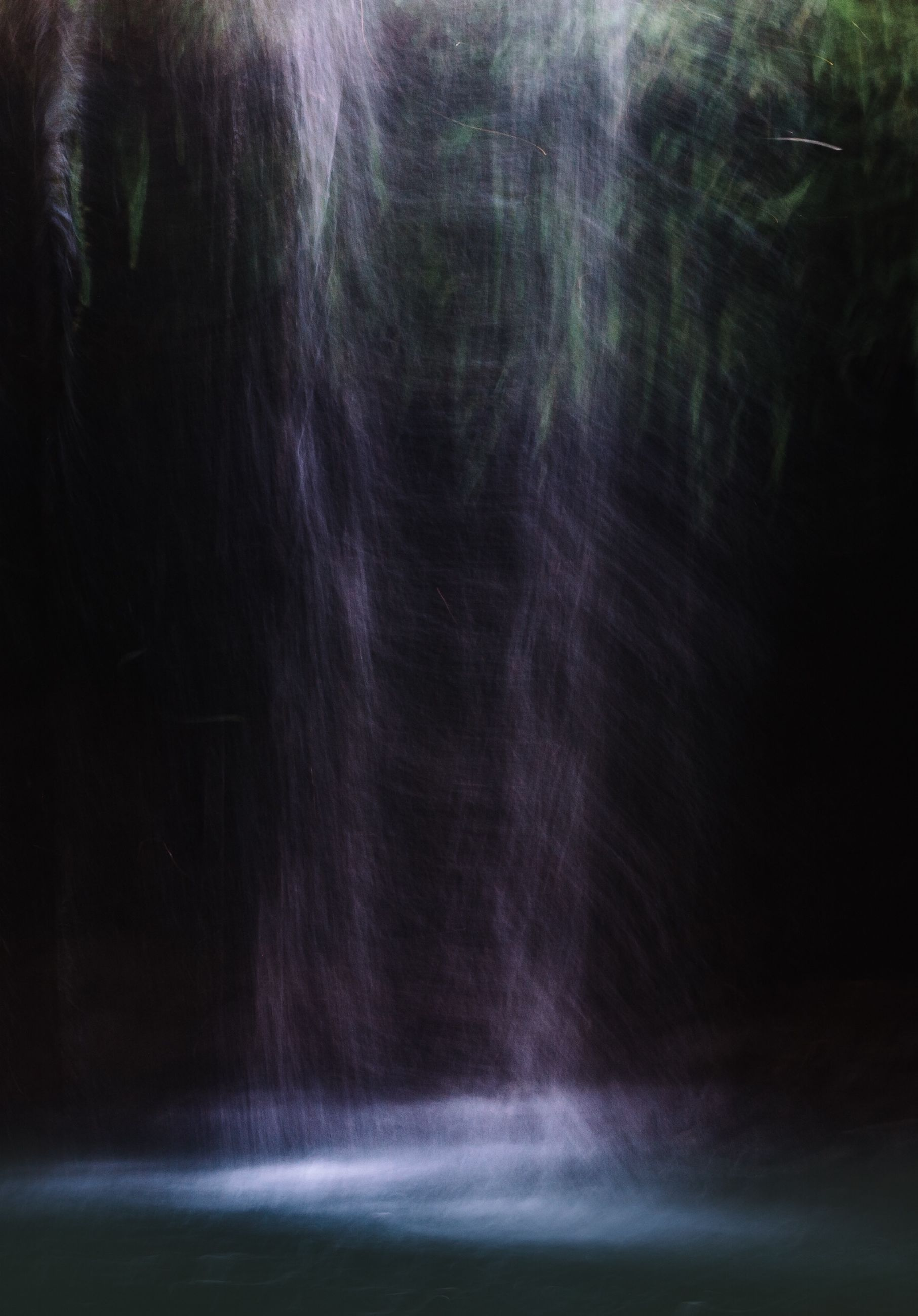 long exposure, motion, blurred motion, tree, beauty in nature, nature, waterfall, scenics, forest, night, power in nature, tranquility, no people, outdoors, speed, tranquil scene, idyllic, low angle view, flowing, flowing water