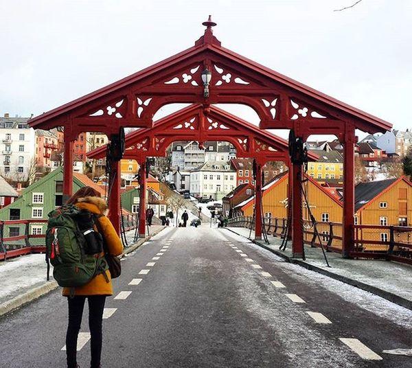 Trondheim Norway Gamlebybro Oldtownbridge Interrail2016 Interraileu Interrailers Interrailing Nursesonrail Neverstopexploring