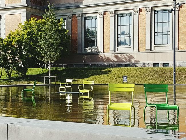 Modern Art Kunstmuseum Copenhagen, Denmark Multi Colored Modern No People Kunst Architecture Architecture Building Exterior Built Structure Water Window Pond City Travel Destinations Plant In Front Of Outdoors Day Canal Outside Green Color Springtime No People