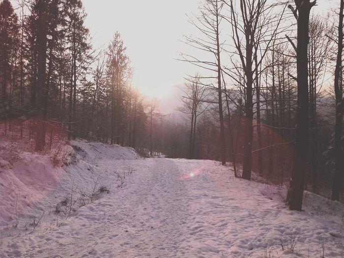 Winter season in Beskidy