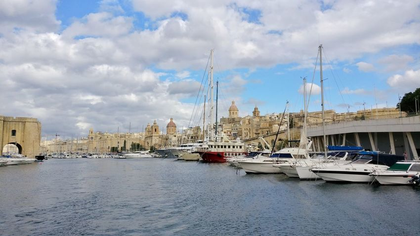 Old meets new. New boats in front of the old houses Senglea Grand Harbour Grand Harbour Marina Harbor Harbour Harbour View Marina Historic Historical Building Historical Travel Destinations Mediterranean  Valletta Maltaphotography Cityscape Travel Photography Malta♥ Malta Travelling Mediterranean  Old Town Architecturephotography Cityscapes Seascape Photography Valletta Sea