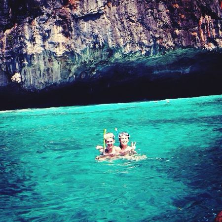 Thailand Koh Phiphi Sea Bleu Vacation Time Travel Friend