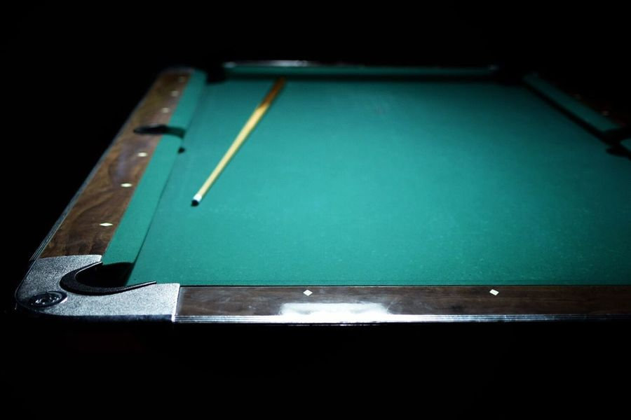 Studio Shot Table Close-up Green Color Pool Table Pool - Cue Sport Black Background Pool Cue No People Pool Ball Indoors  Snooker Cue Ball Pooltable Pool Stick Bar Selective Focus