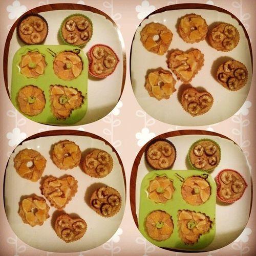 опятьпеку ппвыпечка выпечка ппмафины ппкексы фотоеды еда на этот раз сапельсином кусочками сбананом готовлю
