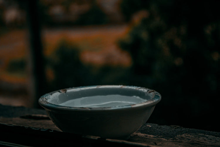 Close-up of tea in bowl on table