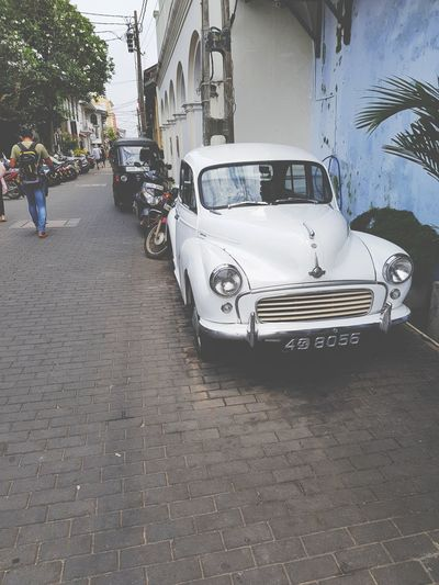 Oldcar Tourism Walk Galle Sri Lanka Old Buildings Street Streetphotography Summer Volkswagen Retro White Beautiful EyeEmNewHere