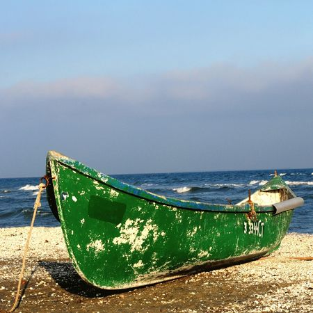Sea Sea View Seascape Sea And Sky Seaside Sky And Clouds Boats Fishing Boat Old Boat Boat