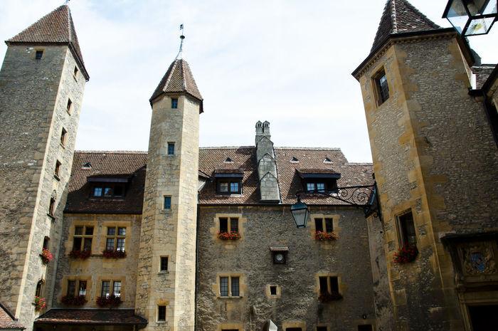Colombier Castle Colombier Colombier Castle Building Exterior Built Structure City Neuchatel Switzerland