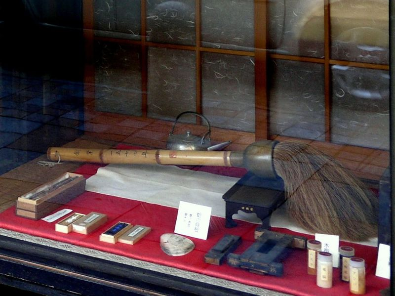 Arrangement Calligraphy Supplies Japanese Calligraphy Large Brush No People Shodo Still Life Stone