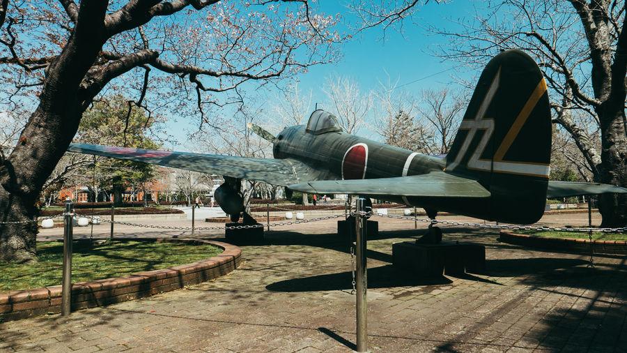 Bare Tree Chiran Day Japan Japan Photography Kamikaze No People Old Airplane Outdoors Playground Sky Tree