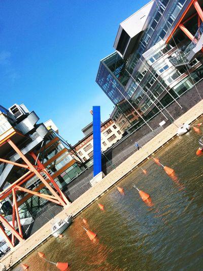 Oh buoy! Blue Orange Urban Landscape Waterfront Pillar 45 Degree Angle from Sunday's EyeEm Helsinki Meetup The Architect - 2016 EyeEm Awards