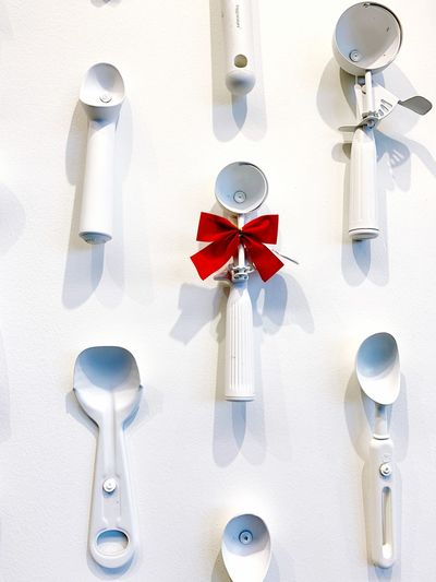 Ice Cream Scoop Minimalism No People White Color Red Creativity Nature Ribbon Indoors  Decoration
