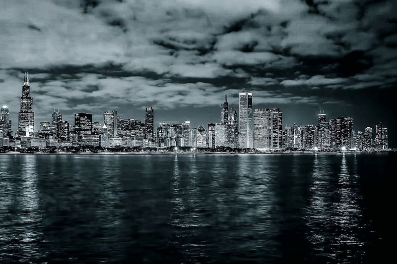 City skyline with waterfront