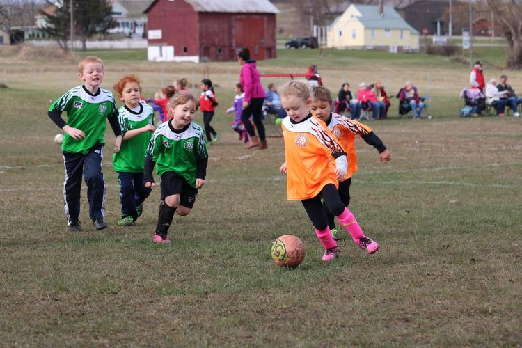 Competition Soccer Group Of People Childhood Child Males  Boys Real People Girls Playing