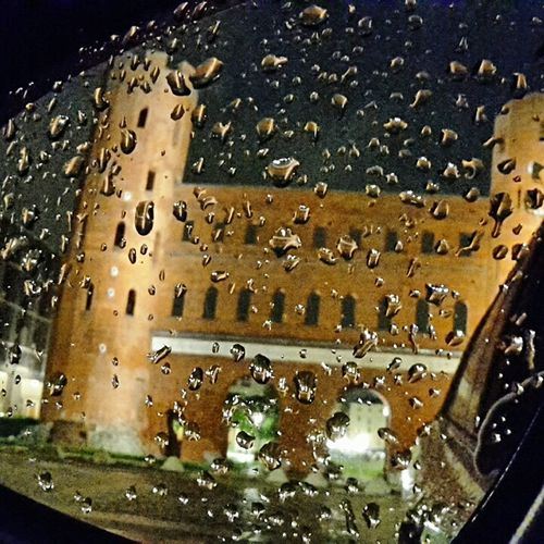 Battle Of The Cities Mein Automoment Cities At Night Porta Palatina Turin Roman Architecture Ruines Roman Empire By Night Rainy Rearmirror Drops Of Rain Reflection
