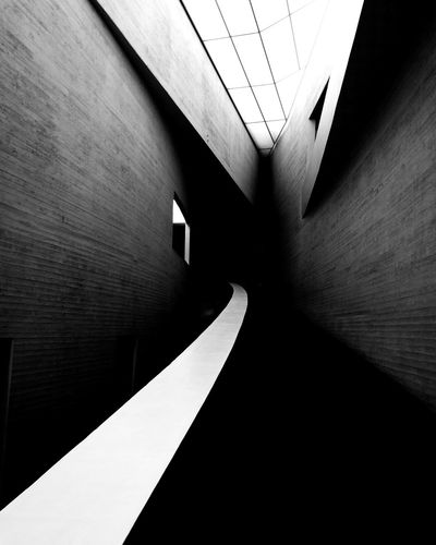 Minimalism. Kiasma Indoors  Shadow No People Built Structure Architecture Black And White Monochrome Photography Helsinki, Finland Oo People And Places Tranquility City Kiasma Kiasmagram MonochromePhotography Monochrome Series