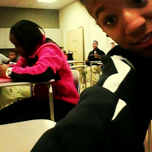 Chilling in class a couple days ago.
