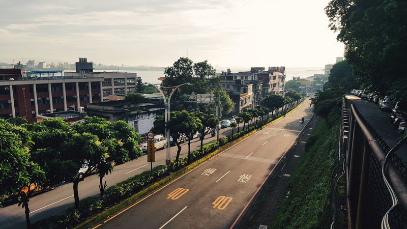 taiwan road City Politics And Government Tree Cityscape High Angle View Sky Architecture Built Structure Empty Road vanishing point City Street Road White Line Asphalt