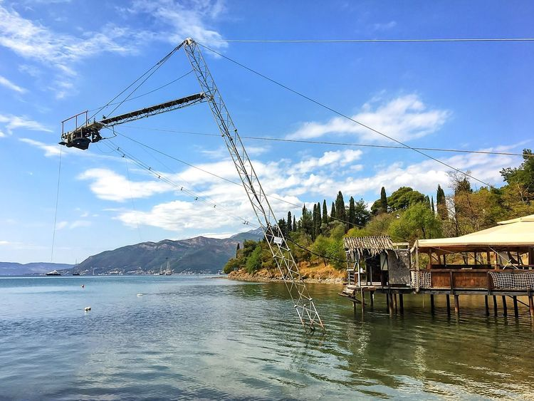 Old wake station. Sky Water Nature Day Beauty In Nature No People Cloud - Sky Clouds And Sky Blue Sky Sport Extreme Sport Wake Boarding Adriatic Sea Beautiful View Tivat Montenegro Beatiful Beach Beautiful Landscape Lost In The Landscape