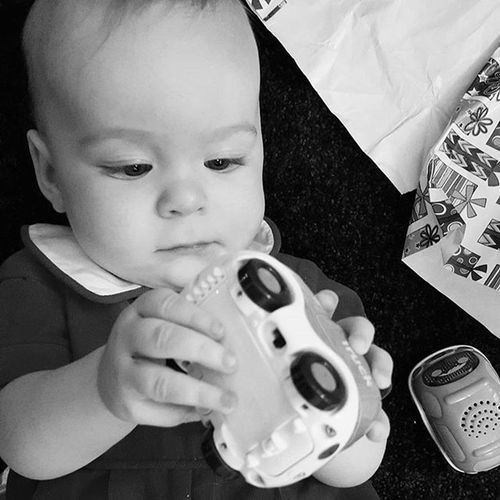 Grandma gives the best presents! Christmasday MyFirstChristmas Presents Family
