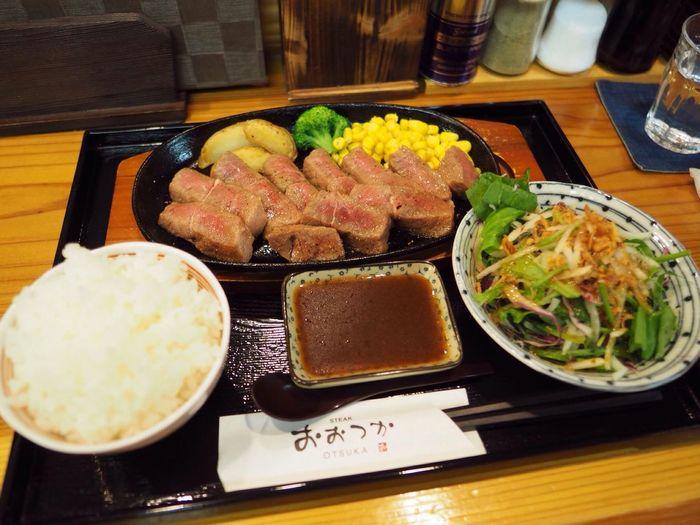 Kyoto Japan Arashiyama Otsuka Steak Lunch Misuji Delicious PEN-F Olympus 京都 日本 嵐山 昼ごはん おおつか ステーキ ミスジステーキ