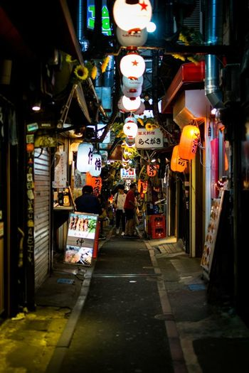 An alley like no other - Tokyo - Japan Photography Travel Travel Destinations Nikon Lights Light And Shadow The Street Photographer - 2018 EyeEm Awards The Traveler - 2018 EyeEm Awards EyeEmNewHere Streetphotography Tokyo Japan Photography Japan Lighting Equipment Illuminated Night The Way Forward Architecture Built Structure Direction Building Exterior City Lantern Store Street Market Decoration Outdoors Hanging The Traveler - 2018 EyeEm Awards The Street Photographer - 2018 EyeEm Awards EyeEmNewHere