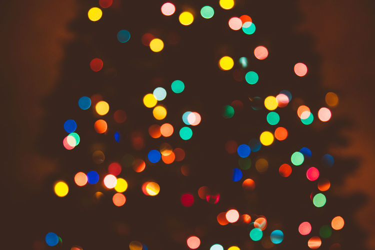 Christmas Christmas Lights Holiday Polka Dots  Tree Abstract Bokeh Celebration Circles Colorful Decoration Defocused Dreamy Glowing Illuminated Multi Colored No People