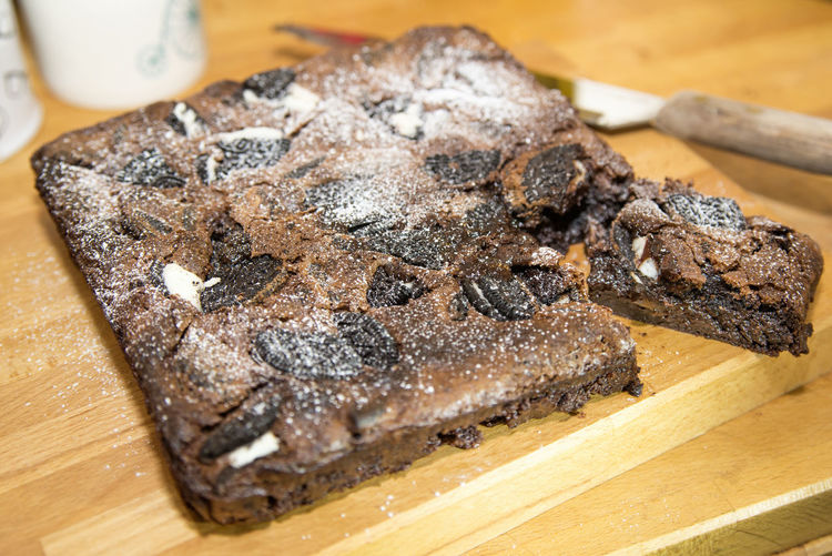cookies and cream chocolate brownie Chocolate Cookies Treats Baking Brownie Cake Cream Home Baking Home Made