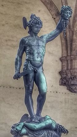 Perseus Florence Italy Medusa HEAD Statue No People Close-up Outdoors Day I