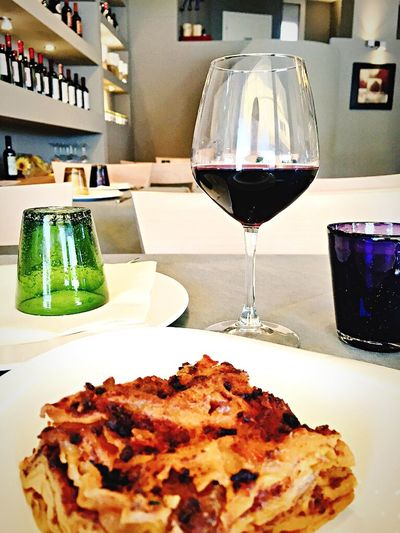 Never eat without a glass of Red Wine Italy Travel Food Wine