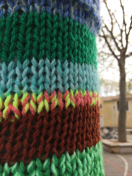 Close-up Day Knitted  Multi Colored No People Outdoors Tree Wool Woolen Yarn Bombing Art Is Everywhere Place Of Heart