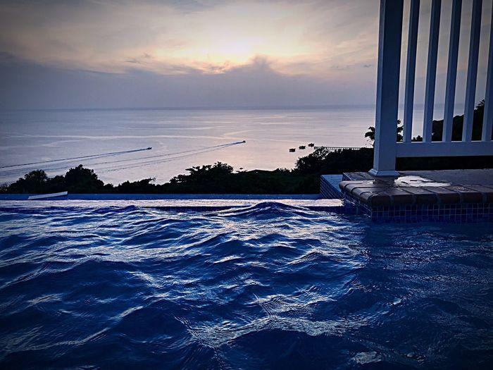 Sunset Nature Cloud - Sky Scenics Outdoors Travel Destinations Horizon Over Water