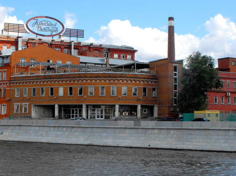 Red October chocolate factory Architecture Building Exterior Built Structure Sky Cloud - Sky Water Building Day City Nature No People Waterfront Industry River Factory Outdoors Smoke Stack Travel Destinations Travel Pollution Red October Chocolate Factory Moscow Riverside Russian