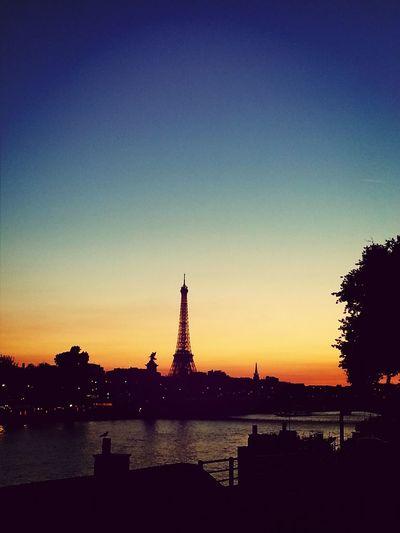 Paris Eiffel Tower Sunset Sky_collection