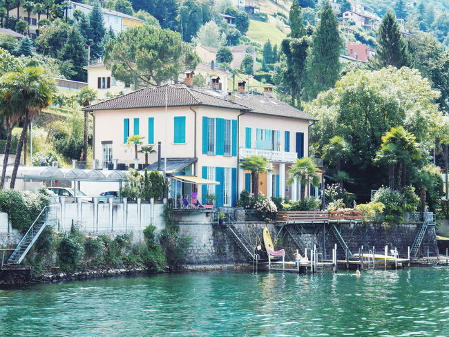 Architecture Beauty In Nature Building Exterior Built Structure Canal City Day Growth Lagos Lake Locarno, Switzerland Maggiore Nature Outdoors Residential Building Rippled Sight Sightseeing Colour Of Life Tourism Travel Travel Destinations Tree Water Locarno