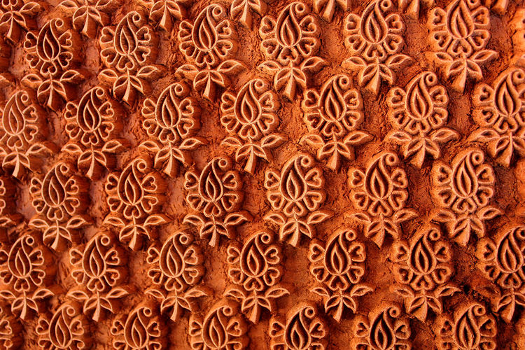 Fabric India Close-up Dyeing No People Pattern Stamp Textured  Traditional Wood - Material Wooden Texture Stamp Art Textures And Shapes Flower Pattern Parts Cultures Indianphotographer Indiapicture Mix Yourself A Good Time
