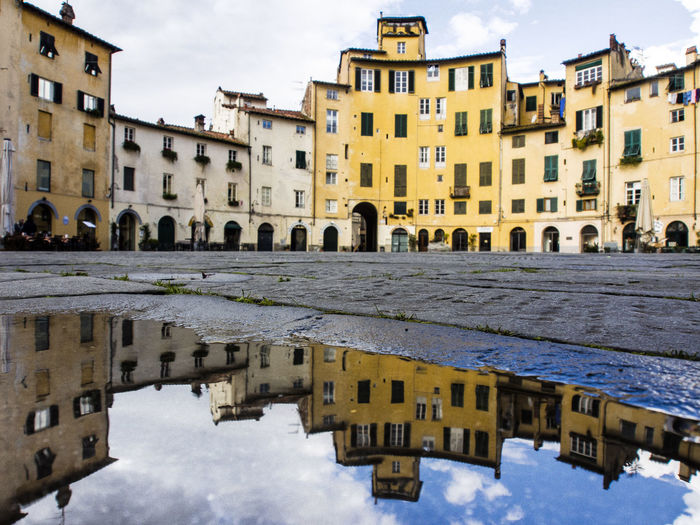 Reflection 4 Anphitheater Arch Architecture Building Building Exterior Built Structure Church City City Life Culture Exterior Façade Famous Place History Lucca Mirror Outdoors Place Of Worship Reflection Religion Residential District Residential Structure