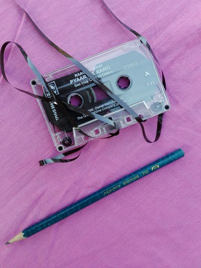 Photographic Memory Cassette Pencil Old Relationships  Pink Beautiful Shot