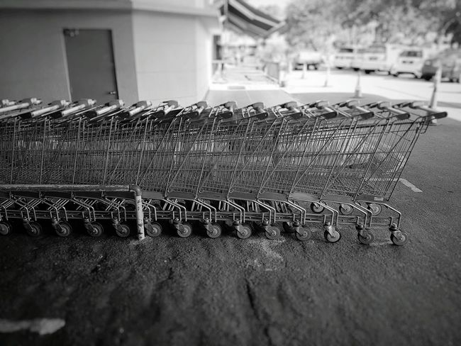 Lots of trolleys to choose from... Trolley Trolleys Shopping Cart Shopping Trolley Shopping Trolleys Shopping Black And White Blackandwhite