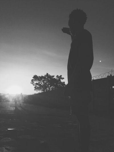 Black&White sunset in Midrand Sunset Black&white