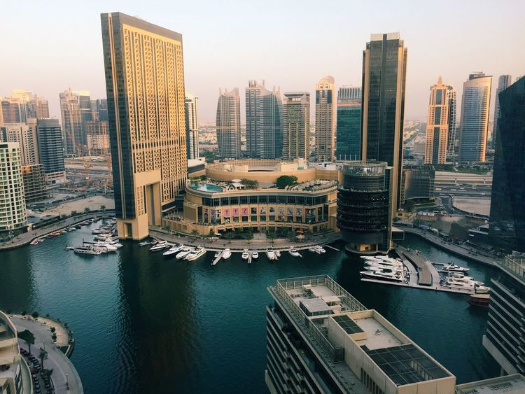 Jumeirah Beach Resort Dubai United Arab Emirates UAE UAE , Dubai Jumeriah Cityscape Marina Luxurylifestyle  Yahts Lake View From The Balcony
